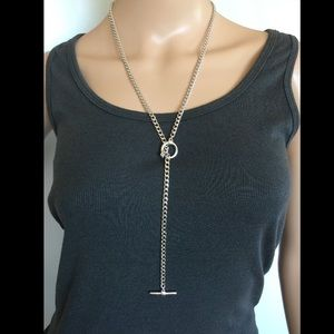 925 sterling silver toggle necklace